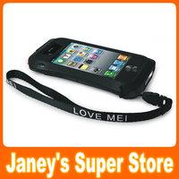 Original LOVE MEI Powerful Small Waist Waterproof Dirtproof Shockproof Fullbody Protector Case For iPhone 4 4S
