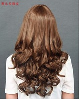Gong show hair curly hair Qi Liu Hainv fluffy new breathable silk natural non mainstream big wave pear reality