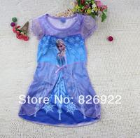 New 2104 Hot Sale Frozen Dress Girl Dresses Frozen Elsa Dress Baby Clothes Garl Clothes Frozen Clothing Set Free Shiping