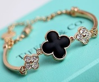 New fashion four leaf clover bracelet gold bracelets for women jewelry wholesale gifts free shipping