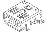 MINI USB Receptacle,TypeAB,10PIN,SMT,Horizontal