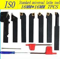 Free shipping ISO International  indexable carbide  turning Lathe tool Plating titanium blade 16mm/7pcS kit cutter