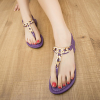 2014 summer brief rhinestone sandals flip style all-match elastic gladiator flat young girl sandals