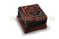 Ebony wood caved coil incense burner box stlye antique