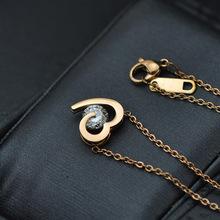 popular gold diamond heart pendant
