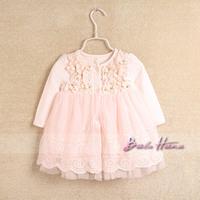 Idea2014 spring child baby girls clothing princess dress one-piece dress cute skirt basic shirt