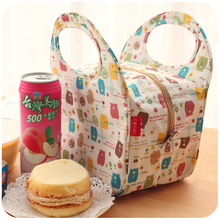 Hearts . waterproof thermal lunch bag cute lunch bags lunch box bag small bag(China (Mainland))