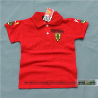 HOT Red racing summer children's Cotton T-shirt Children short-sleeve handsome baby wear sport 2014 new brand boys Clothing