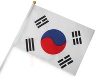 The Korea  hand waving flags small flags