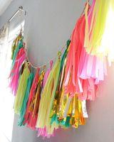 16pcs/lot 14inch/35cm  tissue paper tassel garland // nursery // wedding decorations birthdays party DIY kits