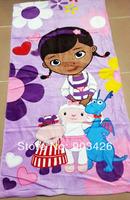 Free Shipping Via DHL!50pcs/lot Hop Quality Movie Character Sofia The First Bath Towel 100% Cotton Cartoon Beach Towel G3248