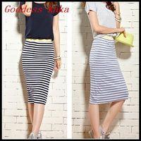 Women Summer Casual Striped Long Dress New 2014 Bohemian Mid-Calf Dress Free Shipping A035