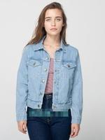 2014 Spring New American Apparel Slim Short Design Women Denim Jacket, Classic AA Light / Dark Blue Jeans Jackets Coat Outerwear