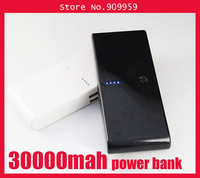 New 30000Mah Power bank extra battery for iPhne iPd Samsung HTC backup charger with 4ports converter