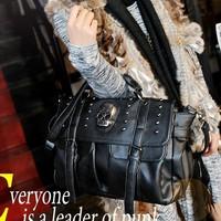 Free shipping Fashion star punk rivet skull ghost head bag vintage one shoulder motorcycle cross-body bag female bags