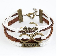 European and American fashion metal love of eight anchor joker cortical layers bracelet#08101417#D95