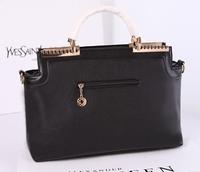 Handbags 2014 new high-end European and American fashion striped casual big bag big star magazine article