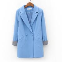 Free shipping 2014 spring women's fashion slim turn-down collar long-sleeve pads bird suit jacket al829