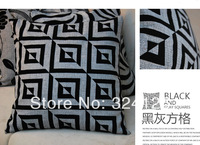 10pcs 45*45cm High quality Luxury Fashion Linen Jacquard cushion cover pillow cases in Free Shipping