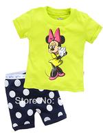 2014 Children Summer Pyjamas Baby short sleeves sleepwear Baby pajamas Children's Pyjamas Children Sleepwear 6sets/lot X-4097