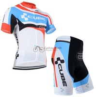 Hot sale! CUBE #2 short sleeve cycling jersey shorts set, bike bicycle wear clothes jerseys pants,Hot sale!