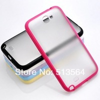 For Samsung Galaxy Note 2 N7100 case TPU+PC material candy color design 1pc retail selling free shipping