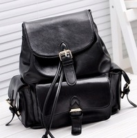 2014 high quality women backpack vintage leather student school backpack casual travel bags 4 colors free shipping