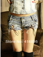2014 New Sexy  Hot Pants Hipster  Low Waist Daisy DS Vintage Jeans Denim Short Shorts for Women 4070214