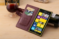 Free shipping&5pcs/Lot Magnetic Wallet Flip PU Magnetic Wallet Stand PU leather Case Cover Card holder for Nokia Lumia 1520