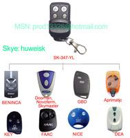 FAAC NICE DEA BENINCA NOVOFERM  KEY GBD APRIMATIC Garage Door rolling code 433.92MHZ remote control key