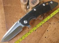 Free HK-Post Express Shipping New Hinderer XM-18 Black Carbon Fiber Handle Pocket Folding Knife CF-FXM18