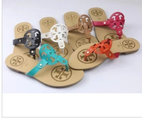 In the summer of 20134 metal decoration flip-flops for women's shoes Female slippers