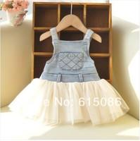 NEW!!!girls lace floral dress girls party dress kids dress 5pcs/lot