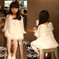 new!!!girls lace floral dress kids dress kids tutu dress 4pcs/lot