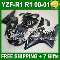 7giftsFor YAMAYA 00-01 YZF R1 Flat matte black YZF 1000 YZF-R1 YZF-1000 YZFR1 00 01 2000 2001 JM99866 YZF1000 HOT Custom ABS Fai