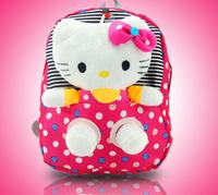 2013 Hot Selling  hello Cartoon kitty Drawstring Backpack School Bag Handbags, canvas bags for boys & girls