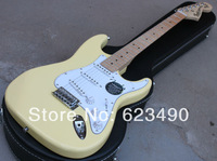 New!!! Scalloped Fingerboard, Dimarzio Pickups, Yngwie ST Guitar, Fat ST Electric Guitar, Vintage White