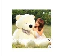 New stuffed white teddy bear Plush 80 cm Doll 31 inch Toy gift wb8411