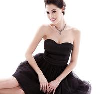 2014 new short evening dress spring and summer wowem girl dresses party evening elegant prom vestidos de festa