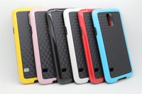 3D Diamond Pattern Design Two-tone TPU Case Cover for Samsung Galaxy S5 S V , 100pcs/lot