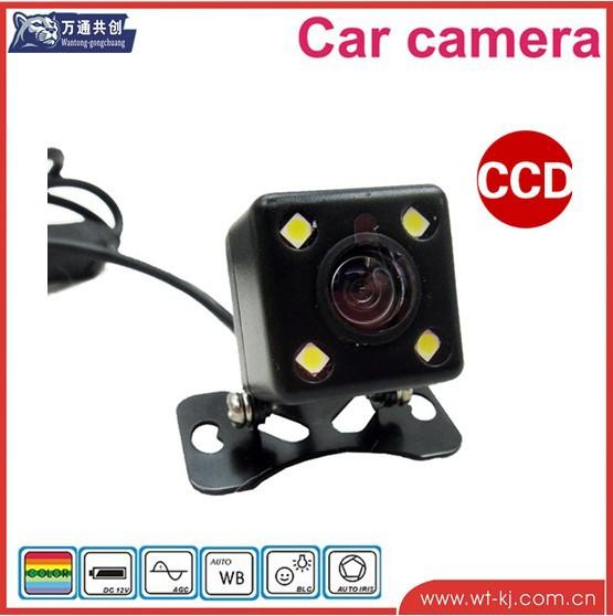 car camera car hd cmos camera mini car camera with 4 led(China (Mainland))