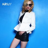 Krazy 2014 clothing slim waist outerwear elegant woolen short design suit 625