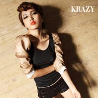 Krazy 2013 spring sexy women's vintage royal nobility lantern sleeve slim racerback top 375