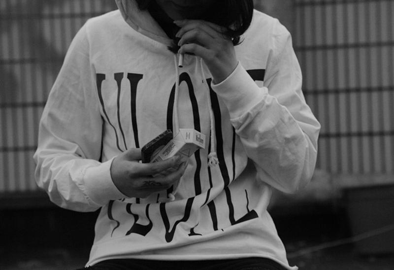 ... hoodies ASAP ROCKY  WIZ WorldWide VLONE HOODIE Black and White hoody