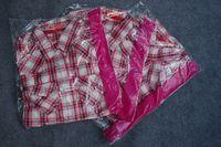 Female shirt plaid shirt autumn shirt female prothorax double bag plaid long-sleeve shirt