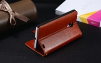 Magnetic Wallet Stand PU leather Case Cover Card holder for MEIZU MX3+film
