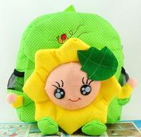 2014 baby's lovely Cartoon backpack, sunflower cute cartoon school bag
