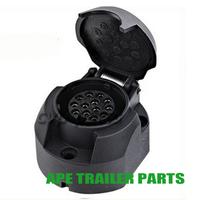 13 Pin Trailer Round Adapter Plug
