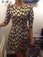 Vintage bronzier wire rose slim one-piece dress
