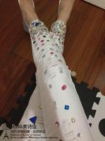 Sexy all-match bling diamond beading elastic slim skinny jeans female